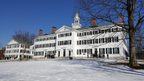 Dartmouth Hall campus tours